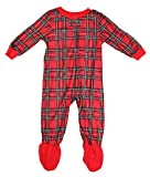Family PJs Holiday Plaid Footed Pajamas Red 2-3 years