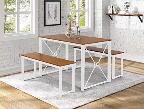 Danxee 3 Piece Dining Table Set Breakfast Nook Dining Table