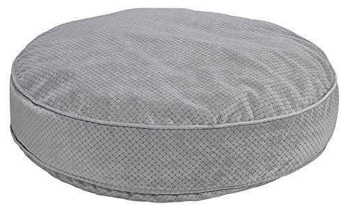 Bowsers Super Soft Round Bed, X-Large, Nickel Weave