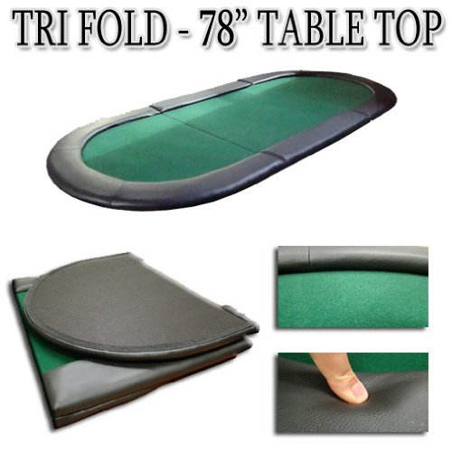 78 Inch Tri-fold Texas Holdem Poker Table Top by Poker Supplies