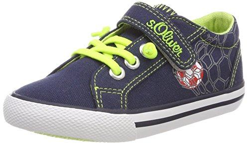s.Oliver 33208, Zapatillas Para Niñas Azul (Navy)