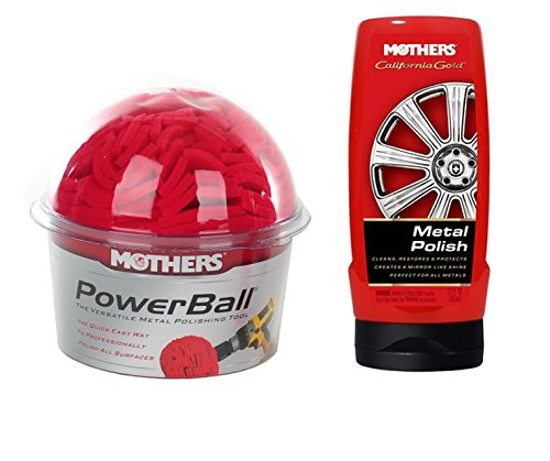 Mothers PowerBall Polishing Tool PLUS PowerMetal Polish, 8 fl. oz. Combo Pack (05140KIT) ()