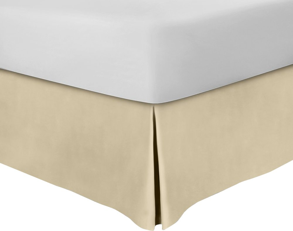 Utopia Bedding Bed Skirt (Twin, Beige) - Hotel Quality, Iron Easy, Quadruple Pleated, Wrinkle and Fade Resistant