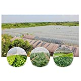 Agfabric 2.4Mil Plastic Covering Clear Polyethylene Greenhouse Film UV Resistant for Grow Tunnel and Garden Hoop, Plant Cover&Frost Blanket for Season Extension, 12x25ft