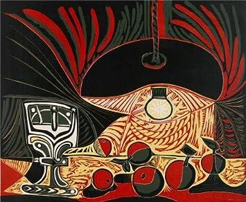 Amazon.com: \'Pablo Picasso-Nature Morte Au Verre Sous La Lampe, 1962 ...