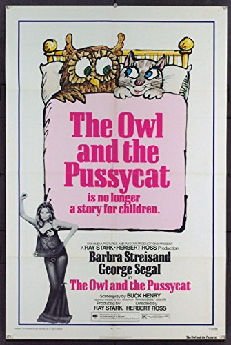 The Owl And The Pussycat 1971 Original One Sheet Poster