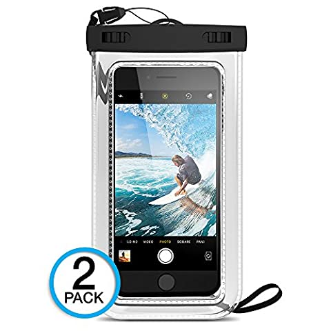 """(2Pack) Universal Waterproof Case, Maxboost Cellphone Dry Bag Pouch for iPhone 7 6s 6 Plus, SE 5s 5c 5, Galaxy s8 s7 s6 edge, Note 5 4, LG G6 G5,HTC 10,Sony Nokia up to 6.0"""" (I Phone 5c Cell Phone)"""