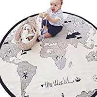 Trycooling Adventure World Map Pattern Baby Crawling Mat...