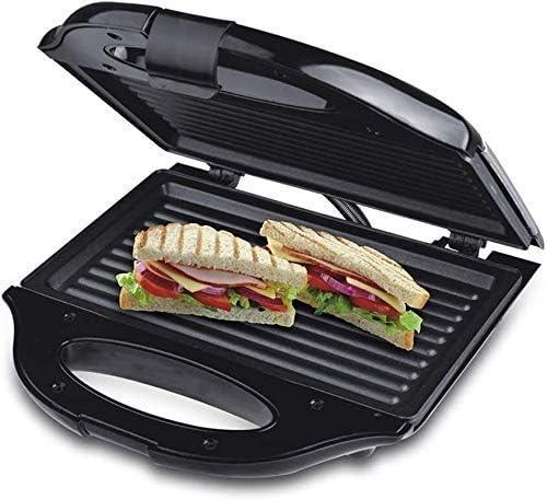 RUXMY Multifunción Placas antiadherentes de 2 rebanadas Sandwich Maker y Grie Toasty Maker Prensa de Acero Inoxidable, para Desayuno 750W Control automático de temperatura20