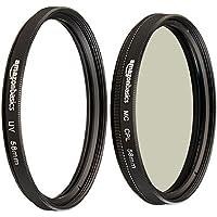 AmazonBasics UV Protection Lens Filter and Circular Polarizer Lens Set - 58 mm