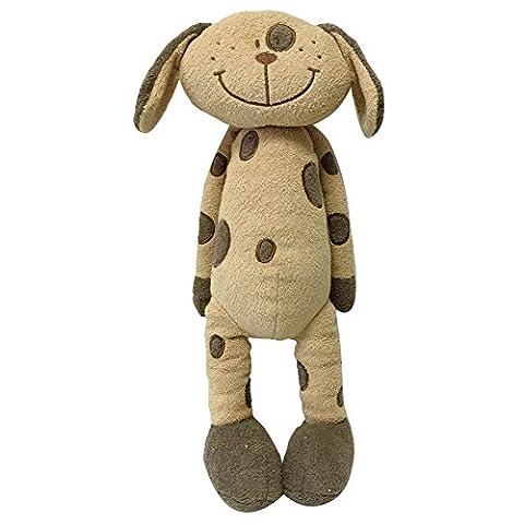 Snuggle Stuffs Plush Sitting Brown Peppered Puppy Dog, 18