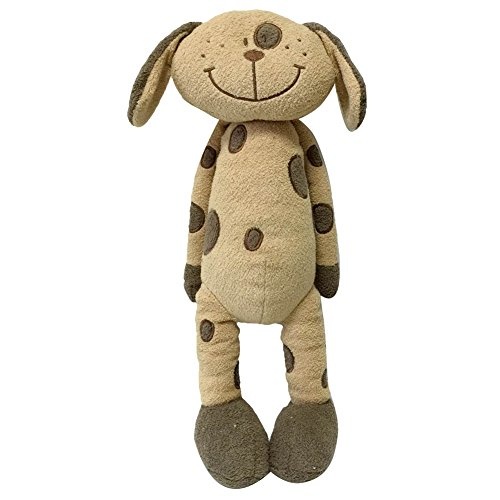 Snuggle Stuffs Plush Sitting Brown Peppered Puppy Dog, 18