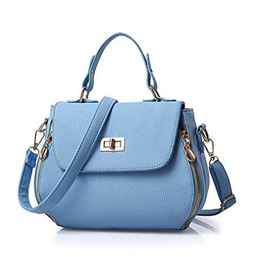 kaoling Mujer Bolsos PU Bandolera Cremallera Para Casual Oficina Y Carrera Todas Las Temporadas Azul Piscina Rosa Gris Morado Gray Blue