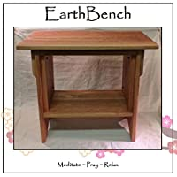 EarthBench Personal end-table Altar - 20 tall w/ 23-1/2 by 13 table top - Solid CHERRY WOOD for Meditation and Prayer.