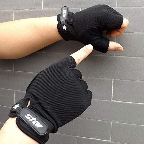 Lyperkin Half Fingerless Gloves, Winter Cycling Gloves Gel Half Finger Fingerless Gloves fit Women Men for Outdoor Sports Bicycle Cycling Gym Biking Hiking