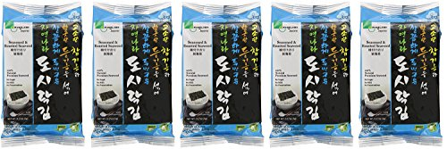 Jayone Seaweed Roasted and Lightly EBgaW Salted, 24 Count (5 Pack) by Jayone