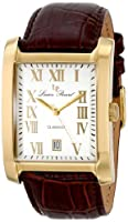 Lucien Piccard Men's 98042-YG-02S Classico Silver Dial Brown Leather Watch from Lucien Piccard