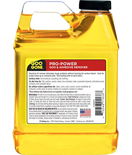 Goo Gone Pro-Power - Professional Strength Adhesive Remover - 32 Fl. Oz. Jug