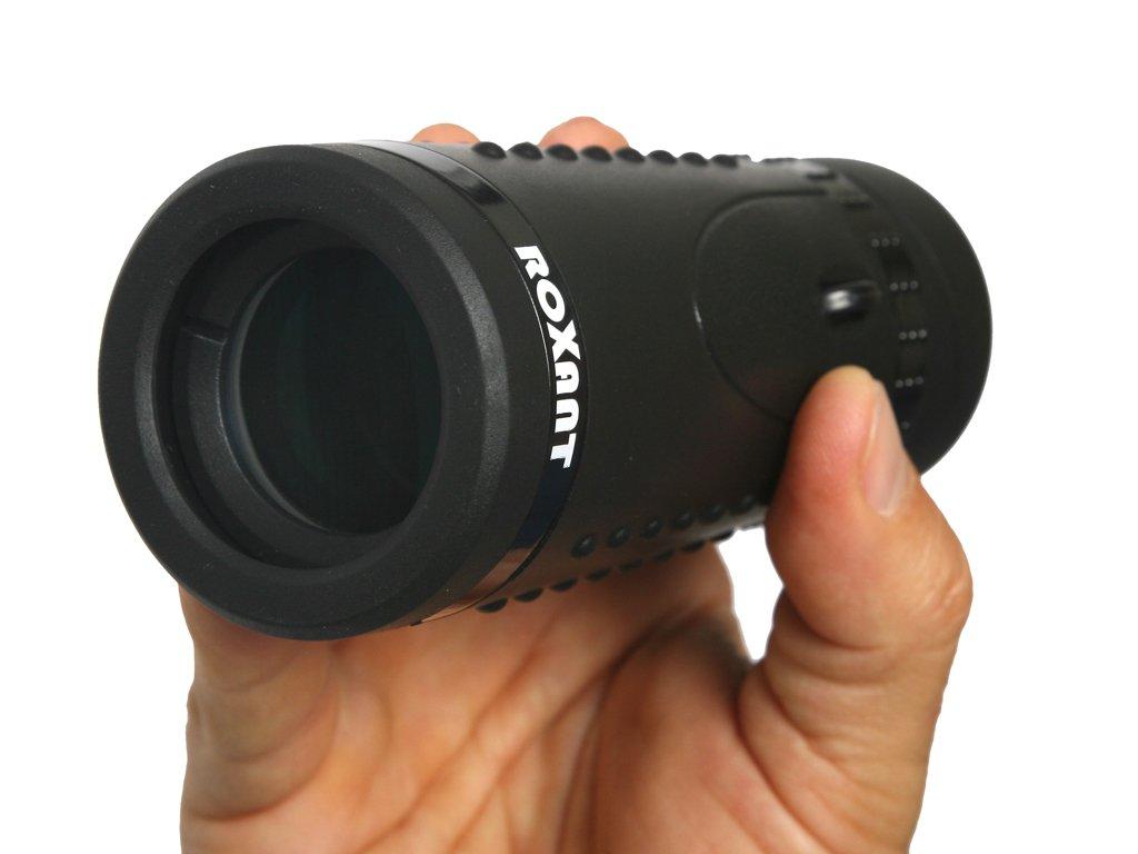 Authentic roxant Grip Scope–High Definition Wide View Monokular mit Roll-Okular und voll Multi-beschichtete optische Glas-Objektiv + BaK4Prism. Wird mit Reinigungstuch, Schutzhülle & Umhängeband.