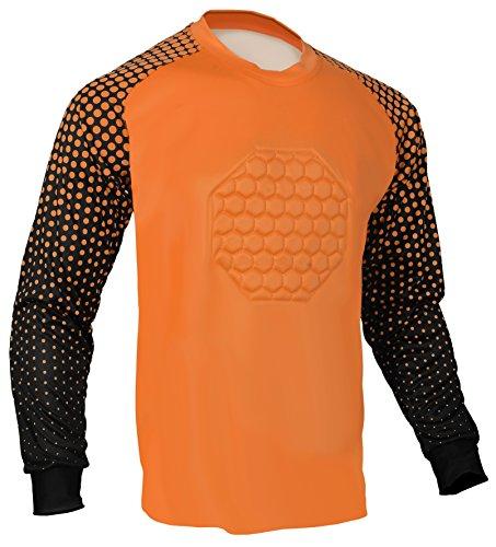 (Soccer Goalie Shirt (Orange, Adult Small))