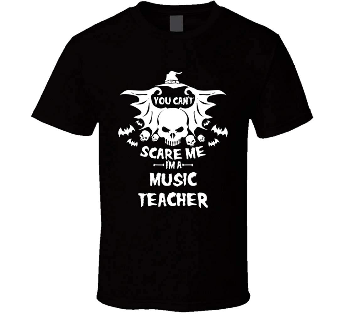 Wu0tin You Cant Scare Me Im A Music Tea Halloween Tshirt