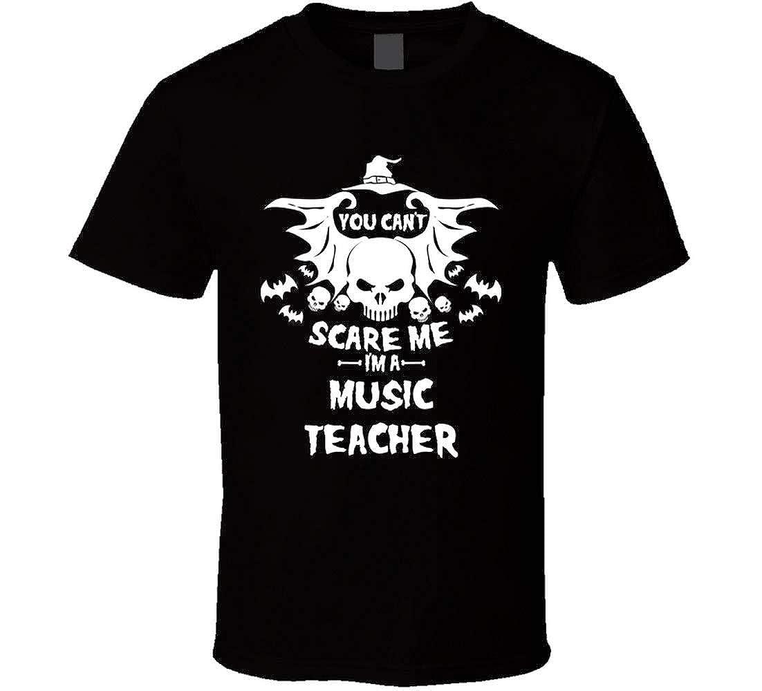 Wu0tin You Cant Scare Me Im A Music Tea Halloween Tshirt