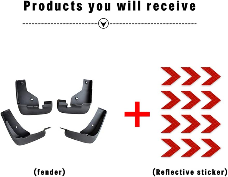Car Custom Mud Flaps Splash Guards for Mazda CX-5 CX5 2012-2016,2017-2019 Fender Flares Mudflaps Mudguards Front and Rear Wheel 4Pcs red