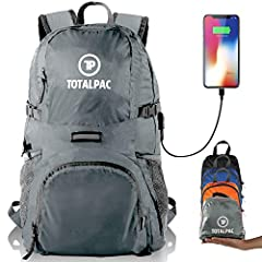 We've redefined what the traveling and outdoor backpack can be. The combination of utility, storage room, and lightweight design, makes it the perfect day pack for any trip. USB Charging Cable: The external USB port and built-in charging cabl...