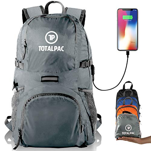 Totalpac Lightweight Foldable Packable Backpack - Perfect Daypack for Traveling & Camping - Small Hiking Backpack is Ultralight - Light Backpacks for Travel, Hiking Bag & Day Pack for Men Women Kids