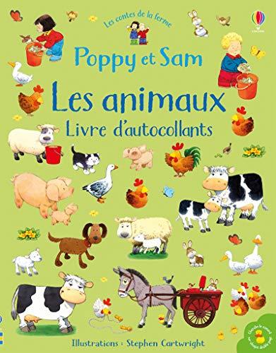 Poppy et Sam - Les animaux - Livre d'autocollants