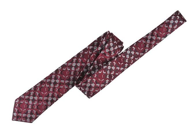 e9d4967a0b Ermenegildo Zegna Tie Men's geometric Burgundy Silk Polyester ...