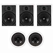 "Theater Solutions TSCS-85 1000 Watt 5CH 8"" In-Wall/Ceiling Home Theater Speaker System"