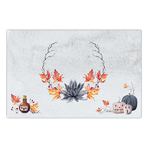 Halloween Paper Place Mats 25 Pack Rustic Boho Farmhouse Autumn Season Placemats Kids Adult Parties Brunch Lunch Dinner Disposable Easy Cleanup 17