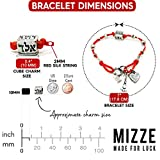 Women's Red Silk String Bracelet with 72 Names of