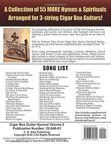 Amazon Cigar Box Guitar Hymnal Volume 2 55 More Classic