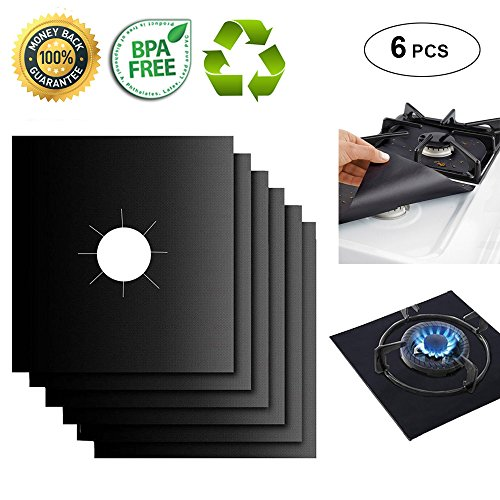 Gas Range Protectors Liner Covers Reusable Gas Stove Burner Covers, 10.6