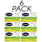 Dermisa Brightening 6 - Pack Bar Soap, Natural Botanical Extracts ( each one of 3 oz)