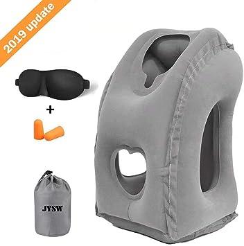 Amazon.com: JYSW Almohada de viaje inflable, almohada de ...