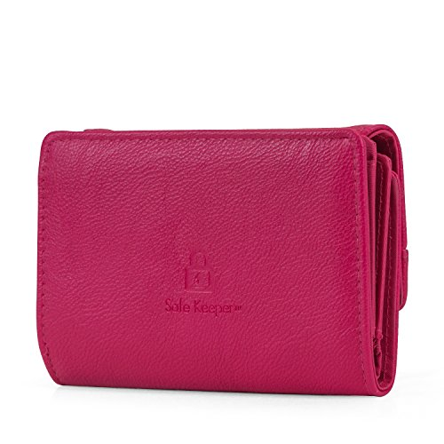 Change Womens Mundi Blocking RFID Compact Wallet Protection Purse Clutch With Raspberry Safe Trifold Small HWnWZPxf