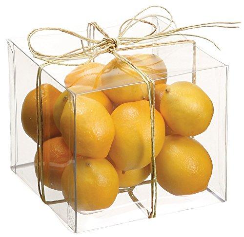 Artificial Mini Lemons - Container of 15 - Small Size (Lemons Decorative)