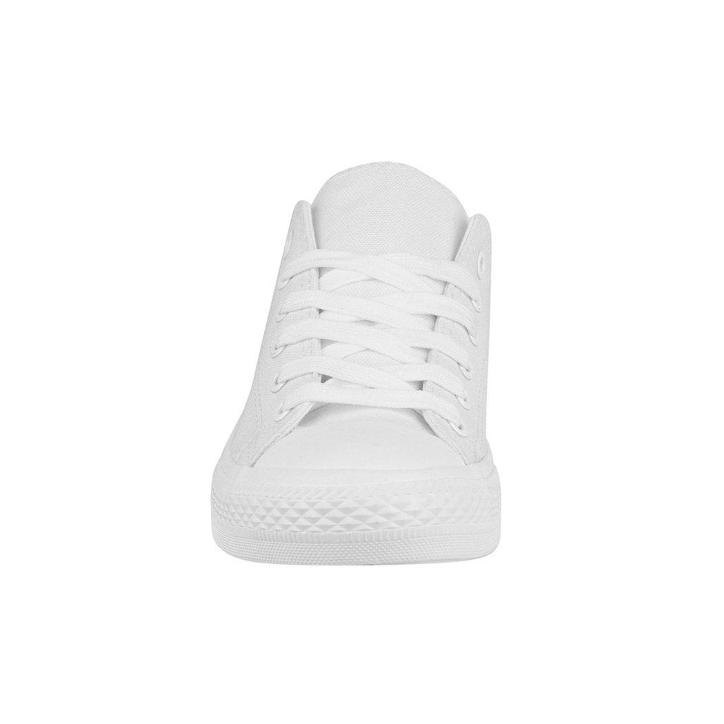 Elara Sportschuhe Unisex Sneaker | Bequeme Sportschuhe Elara für Herren und Damen | Low Top Turnschuh Textil Schuhe 36-46 All White - bfc9a3