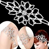 Happy Hours - Bling Crystal Bridal Bracelet Necklace for Headwear, Epaulet, Arm / Wedding Jewelry Charm Rhinestone Bangle Armlet for Prom Party Anniversaries Gift(#3)