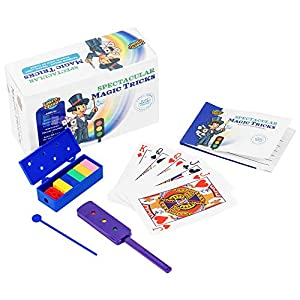 Learn & Climb Magic Tricks Kids Ages 7,8,9,10-Set of 3 Unique Props Includes Rainbow Bricks Trick, Traffic Light Trick, Magical Cards & Instruction Manual