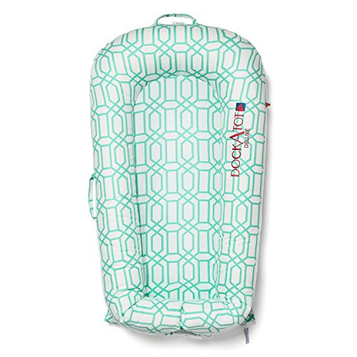 Amazon.com : DISCONTINUED (Old Version) - DockATot Deluxe Dock (Minty Trellis) : Baby