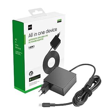 HKY 65W USB Type C Cargador para BMAX MaxBook X14 BMAX Y11 ...