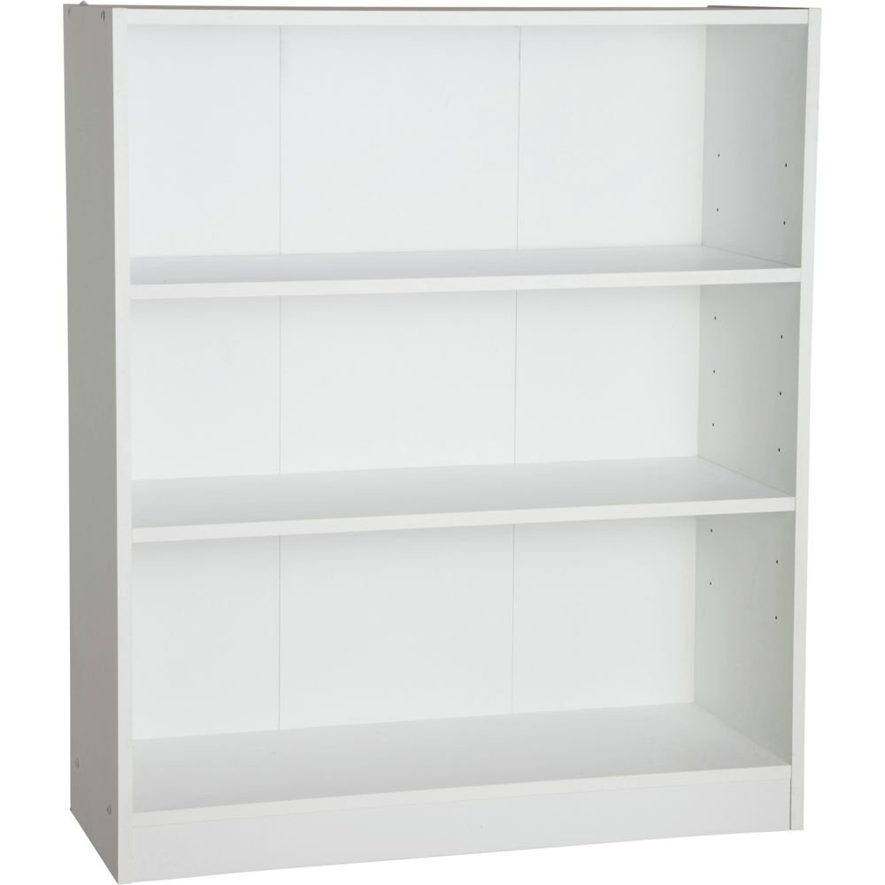 Maine Small Extra Deep Bookcase - White.