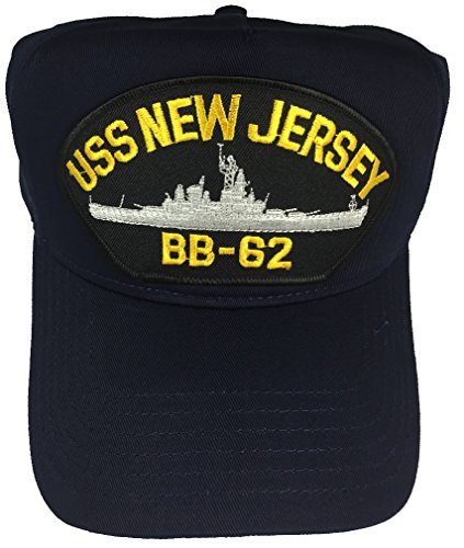 USS NEW JERSEY BB-62 W/ SHIP HAT - NAVY BLUE - Veteran Owned Business by H (Image #1)'