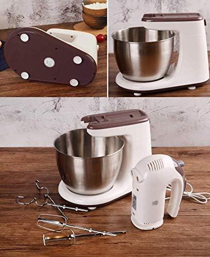 genneric Mélangeur Vertical, Style de Cuisine Mixer, crème avec Batteur, Crochet pétrisseur et Fouet, 3 litres Bol en Verre, 300 Watt