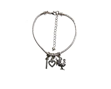 c032f4541445a I Love Heart Cock Charm Hotwife Euro Anklet Big Cock Ankle Chain ...