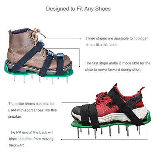 SiGuTie Lawn Aerator Shoes, Spiked Lawn Aerating Sandals Heavy Duty Garden Tool Metal Buckles 3 Adjustable Straps Universal Size Aerating Garden Yard, Extra Wrench Instructions by SiGuTie (Image #4)